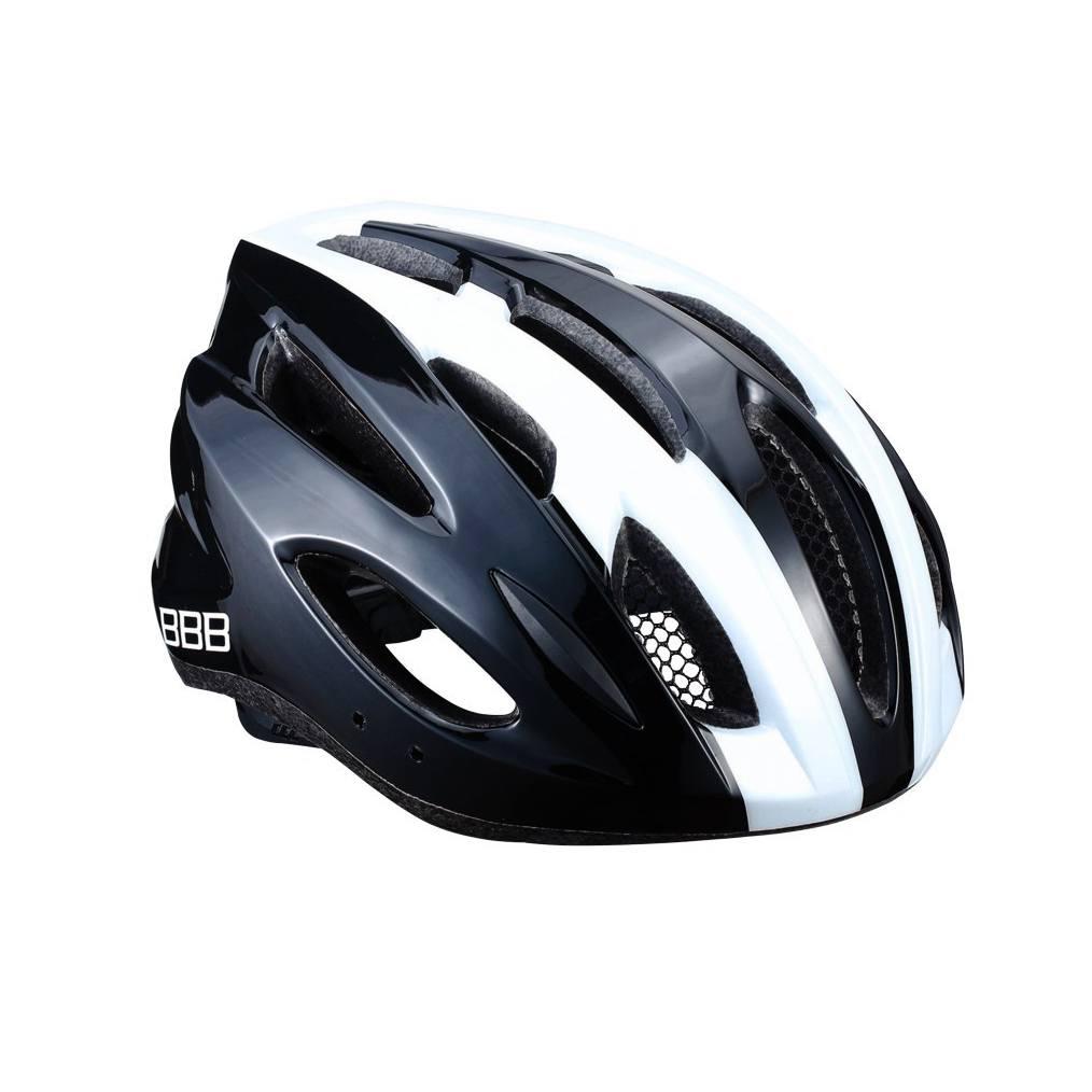 Zwart-wit-condor-fietshelm
